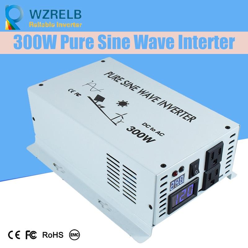 Reliable 300 Watt Sine Wave Inverter Pure Sine Wave Solar Power InverterS DC 12V 24V 48V to AC 110V 220V Digital Display 30%OFF