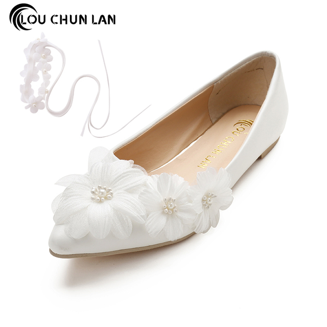 Handmade Wedding Shoes White Bridal Shoes elegant Princess fancy ...