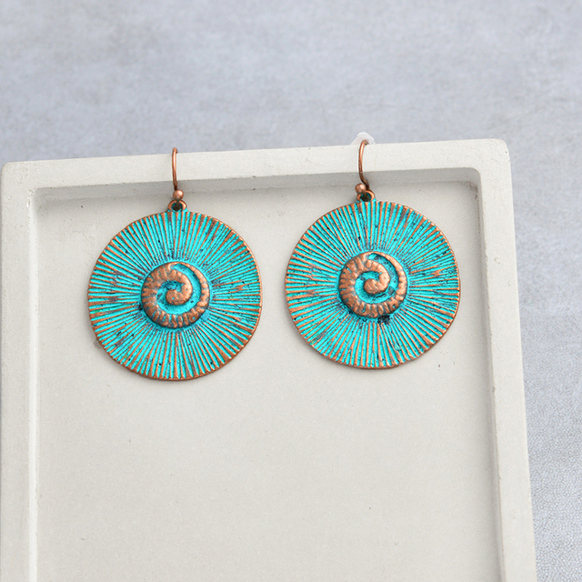 Vintage Turquoise Bronze Earrings