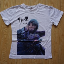 Black Butler Anime Casual Fashion Short Sleeves Men's T-shirt