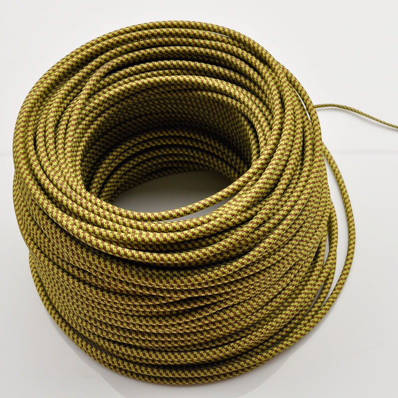 0.75mm2 Round Textile Fabric Electrical Wire Braided Chandelier ...