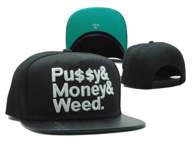 Cayler   Sons Snapback Hats for men women PUSSY MONEY WEED Hip Hop cap  female summer style cotton brand New Baseball Caps bones ab71a0d53f1