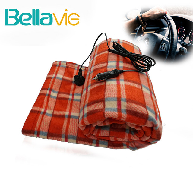 12 Volt Car Electric Blanket For Travel Seat Heater Cigarette Lighter Socket Road Trips