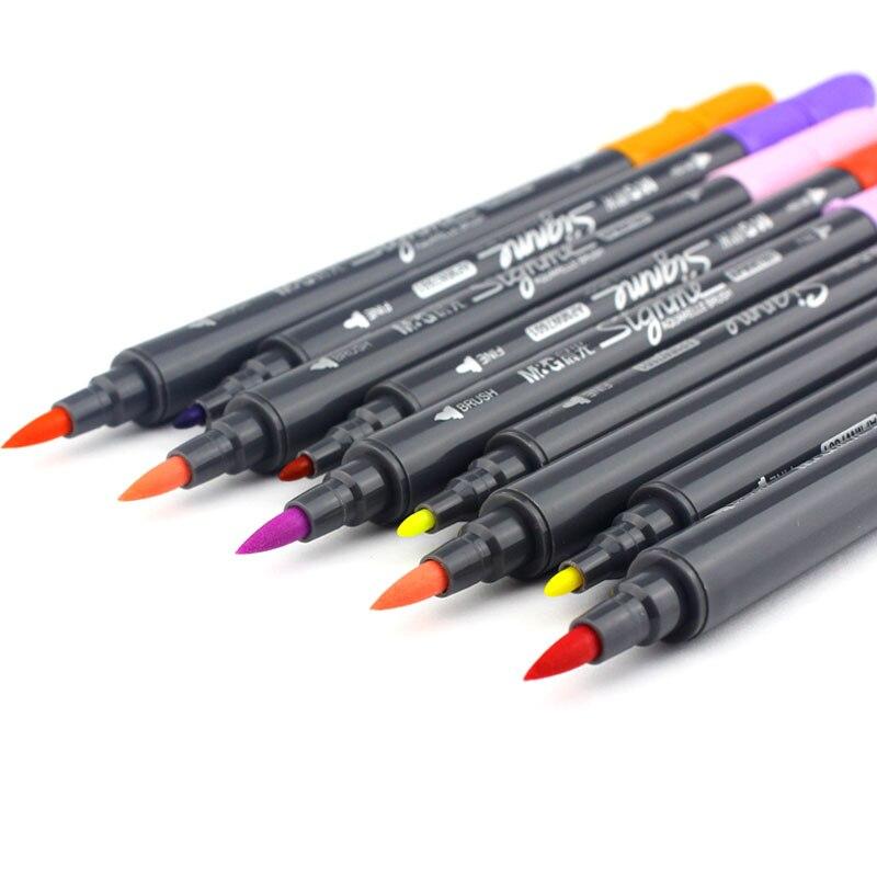 12 18 24 Color/set di Arte e Graphic Disegno Manga A Base D'acqua inchiostro Marcatore Tessuto Twin Tip Dual Nip Pennello Penna Copic Schizzo