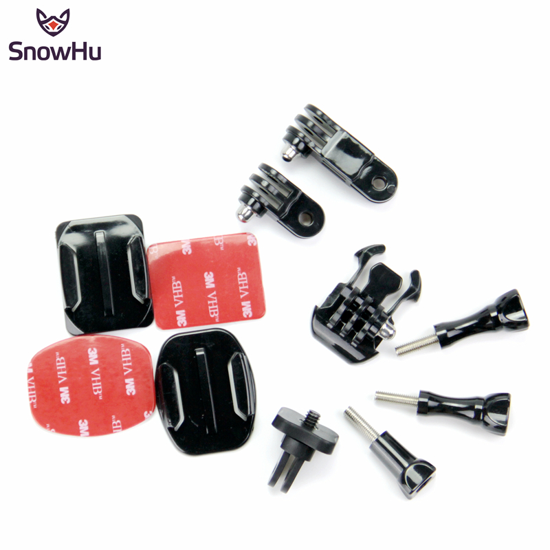 SnowHu New Adapter of Tripod Set convert For GoPro hero 7 6 5 4 3 3 for xiaomi yi For SJCAM SJ4000 SJ5000 for enek h9 h8 GP100 in Sports Camcorder Cases from Consumer Electronics