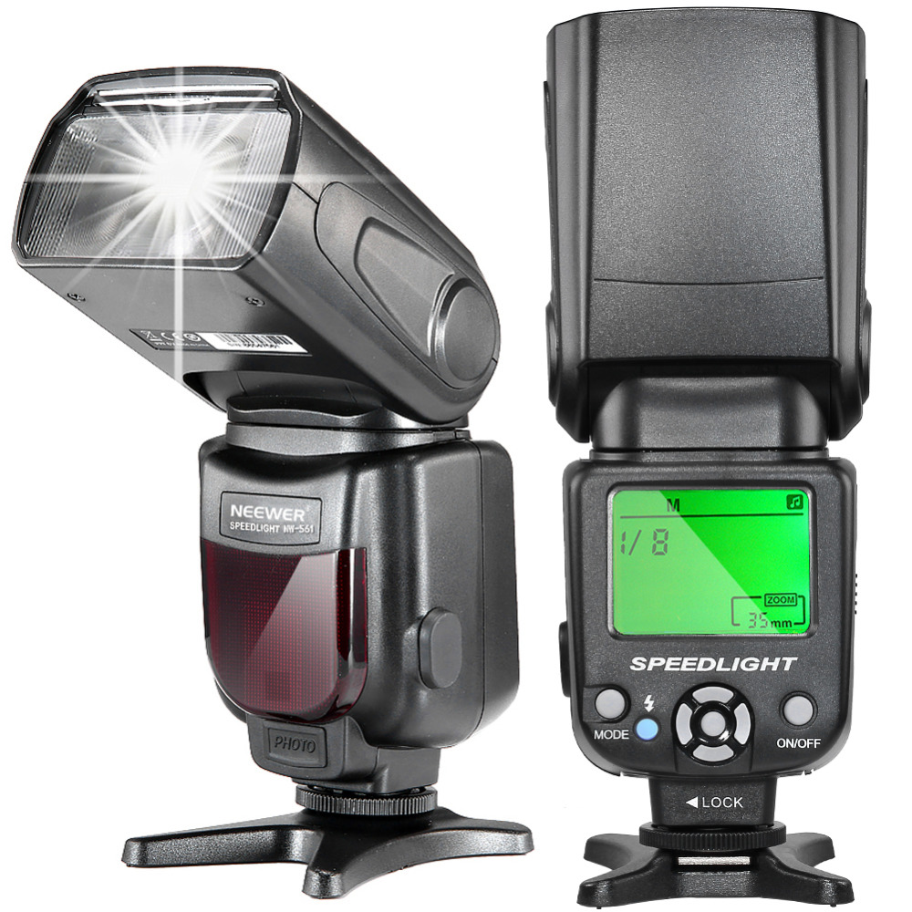 Neewer NW-561 Display LCD Flash Speedlite para Canon Nikon D7200 D7100 D7000 e Todas As Outras Câmeras DSLR com Sapata sapato
