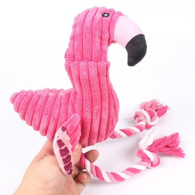 1 шт. популярные смешные дикий Фламинго Форма собака игрушка скрипучий Pet щенки, игрушка звук Игрушечные лошадки