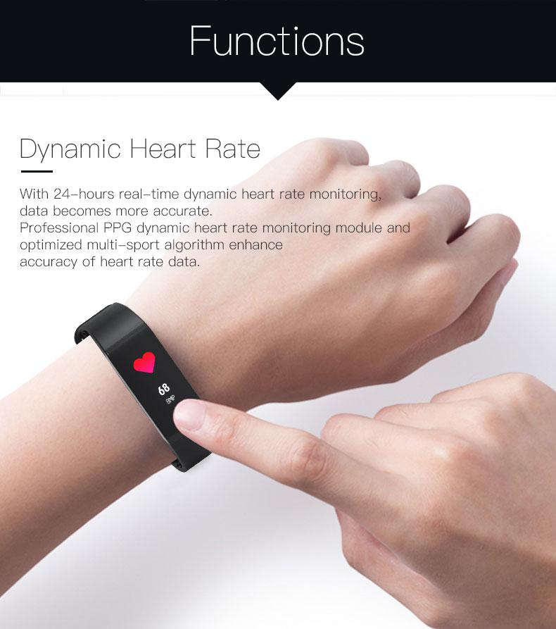 Smart bracelet blood pressure heartrate W6S (6) -