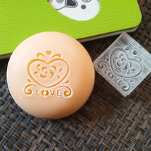 free shipping natural handmade acrylic soap seal stamp mold chapter mini diy ROSE patterns organic glass 3X3cm 0409