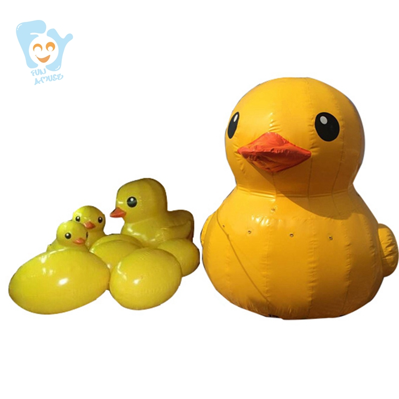 1m High Inflatable Egg For Giant Inflatable Promotion Yellow Duck Water Ground Decoration giant inflatable balloon for decoration and advertisements