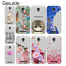 цена на Soft TPU Cases for ZTE Blade L110 Case Fashion Colorful Pattern Silicone Mobile Phone Case for ZTE Blade L110 Cover