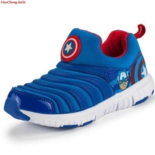 HaoChengJiaDe New Children Mesh Sneakers Boys Spider-Man Running Shoes