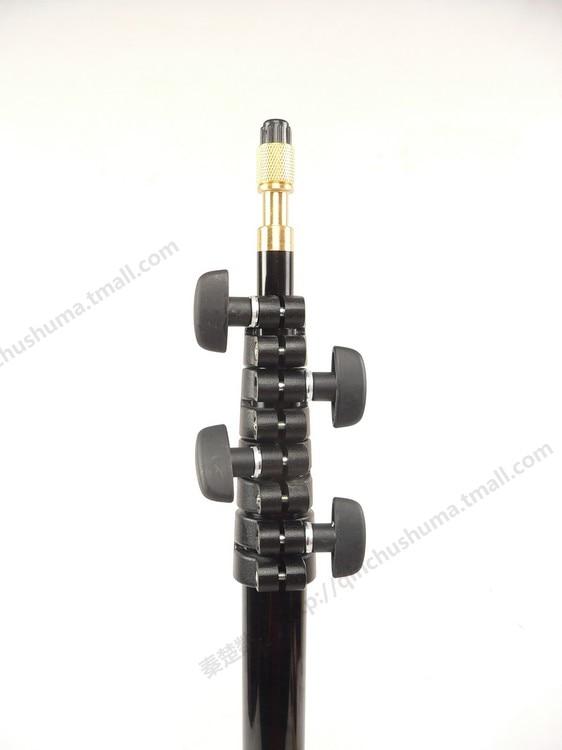 Support de lampe flash 5 segments vis d'interrupteur à tête en cuivre court facile à transporter pliant CD50 - 4