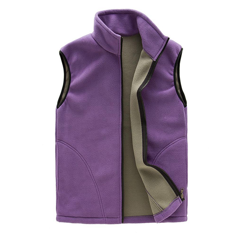 Yiwa Women Breathable Fleece Warm Solid Color Gilet Sleeveless Sweat shirt Short Casual Women Coat Short Sleeve Outerwear