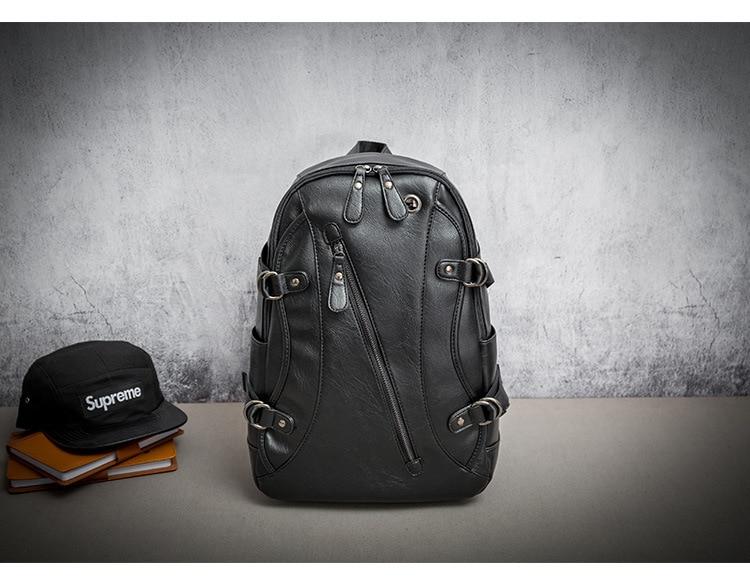 Soft Leather Laptop Bag Backpack15.6 Men's Backpack High School College Student Computer Bag Laptop Backpack Business Leather