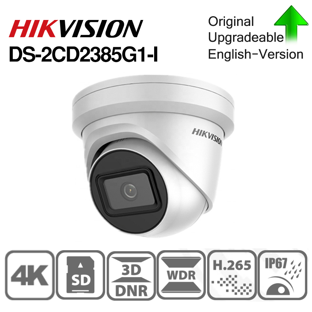 Hikvision Original IP Camera DS-2CD2385G1-I 8MP Network CCTV Camera H.265 CCTV Security POE WDR SD Card Slot