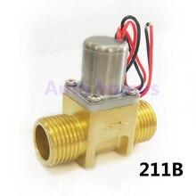 Latão G1/2 polegada miniatura louças sanitárias Indução biestável pulso válvula solenóide de controle da água, válvula de poupança de energia