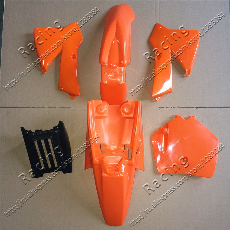 نصب شده پلاستیک پلاستیک OEM NEW KTM SX 50CC 50 50XX KIT ORANGE KTM50 SENIOR JUNIOR JR SR