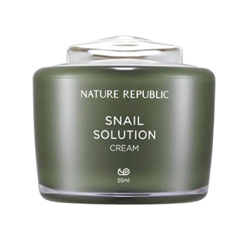 Nature république escargot Solution crème 55 ml Anti rides escargot crème traitement de l'acné soin de la peau du visage hydratant réparation visage crème