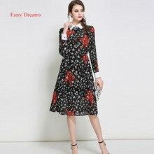 Fairy Dreams Womens Shirt Dress 2017 New Style Star Print Black Spring Summer Dresses Hot Sale Plus Size Clothing vestidos