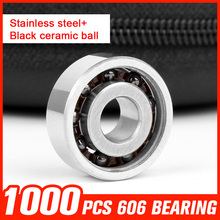 1000pcs Bearing 606 Ceramic Ball Bearing for Roller Skating Drift Board Matel Tri spinner Hand Spinner