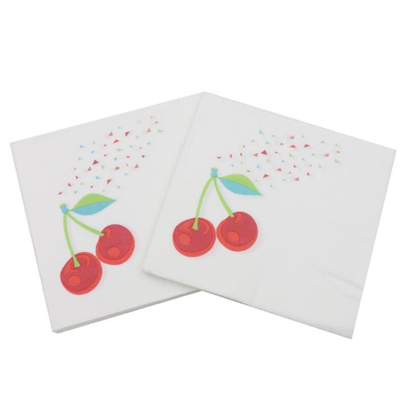 2018 Paper Napkins Hot Sale Color Printing Napkin Diverse Fruit Pattern Grass Tissue Party Festive & Party Decoration 20 pcs