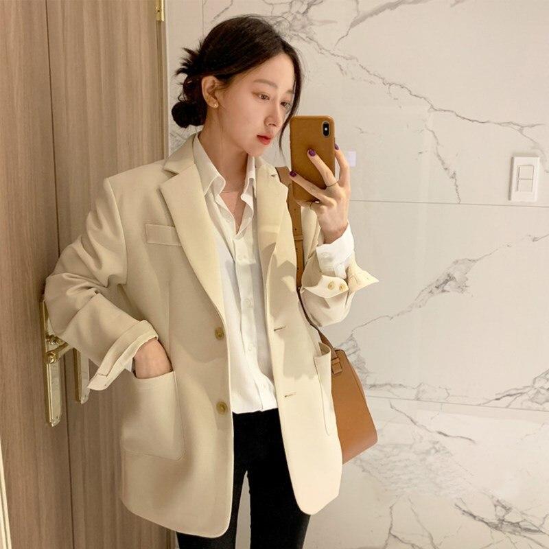 2019 Elegant Single Breasted Women Blazer Jackets Ol Style Blasers Outwear Femme Suits Coat