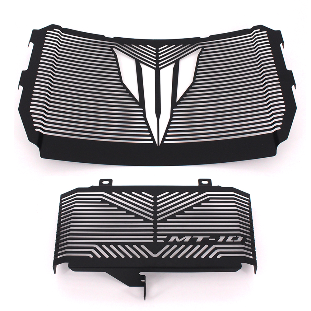Black Motorcycle Accessories Radiator Guard Protector Grille Grill Cover For YAMAHA MT10 MT-10 MT 10 2016-2017 Free shipping motorcycle radiator protective cover grill guard grille protector for kawasaki z1000sx ninja 1000 2011 2012 2013 2014 2015 2016