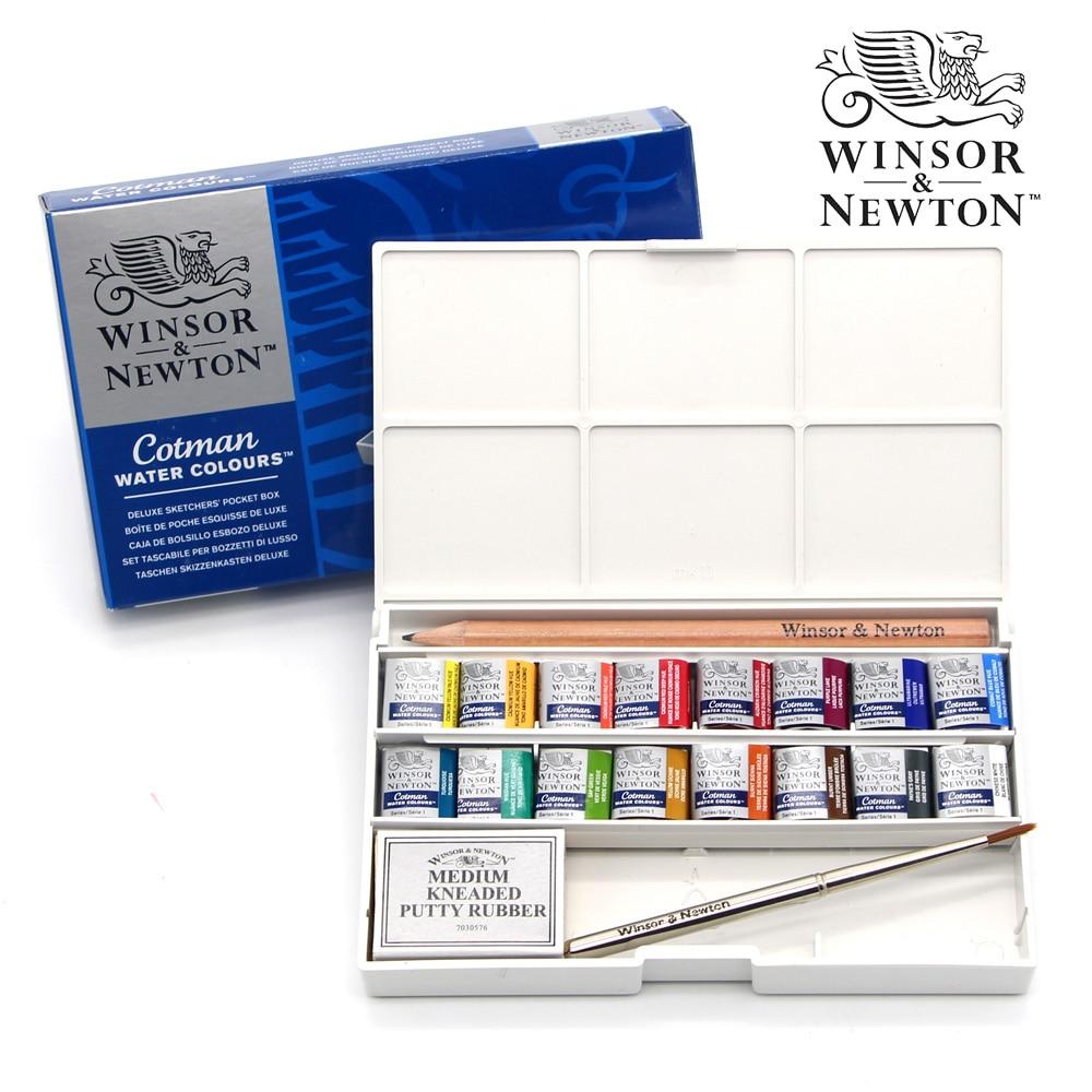 Winsor Newton 16 Colors Cotman Water Paint Painter Solid Watercolor Pigment Art Drawing Supplies