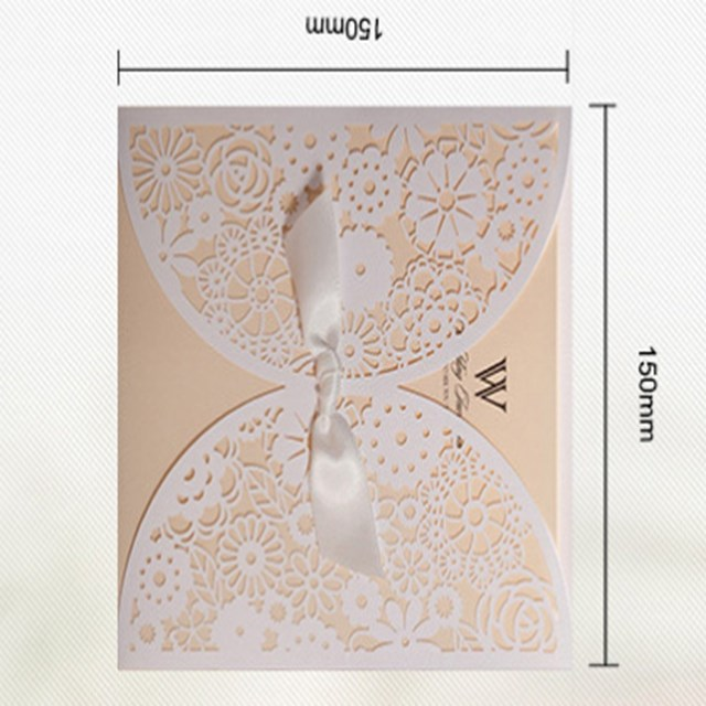 500pcs/lot Free Shipping Wedding Invitations Laser Cutting Invitation Card  For Wedding Blank Paper Hollow