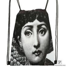 Custom Piero Fornasetti Drawstring Backpack Bag Cute Daypack Kids Satchel (Black Back) 31x40cm#180531-02-66