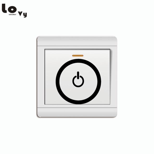 Us 05 Kreative Schaltenauf Pc Symbol Licht Schalter Aufkleber Lustige Eletricity Wand Aufkleber Für Kinder Zimmer Schlafzimmer Wohnzimmer