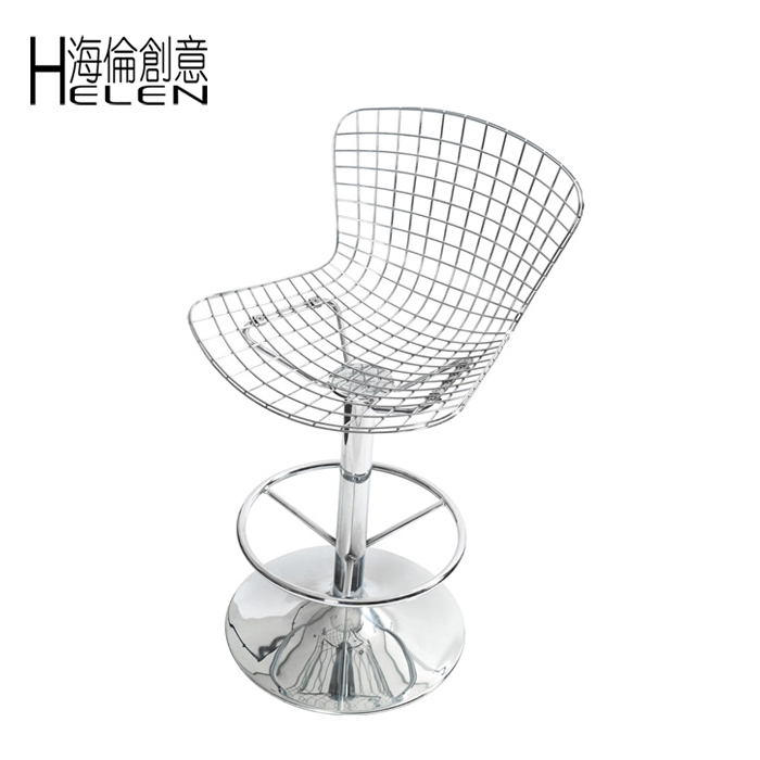 BERTOIA BARSTOOL Bo Tuoai Rotating Bar Stool Chair Metal Iron Mesh Wire  Plating Chairs Restaurant Chairs In Bar Stools From Furniture On  Aliexpress.com ...