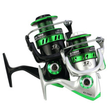 Yumoshi 12KG Drag Carp Fishing Reel with Extra Spool Front and Rear Drag System Freshwater Spinning Reel  Fishing Wheel цены