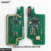 QCONTROL Car Remote Key Circuit Board for Peugeot 207 208 307 308 408 Partner CE0536 ASK/FSK Signal Key fob