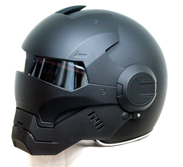 Free shipping Top ABS Moto biker Helmet  ktm MASEI Iron Man personality special fashion half  open face  motocross helmet black