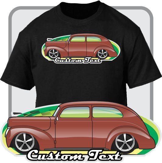 2018 New Men'S Fashion Custom Car Art T-Shirt 1937 38 1939 40 De Luxe Coupe Sedan Not Affiliated American Classic Car Shirt