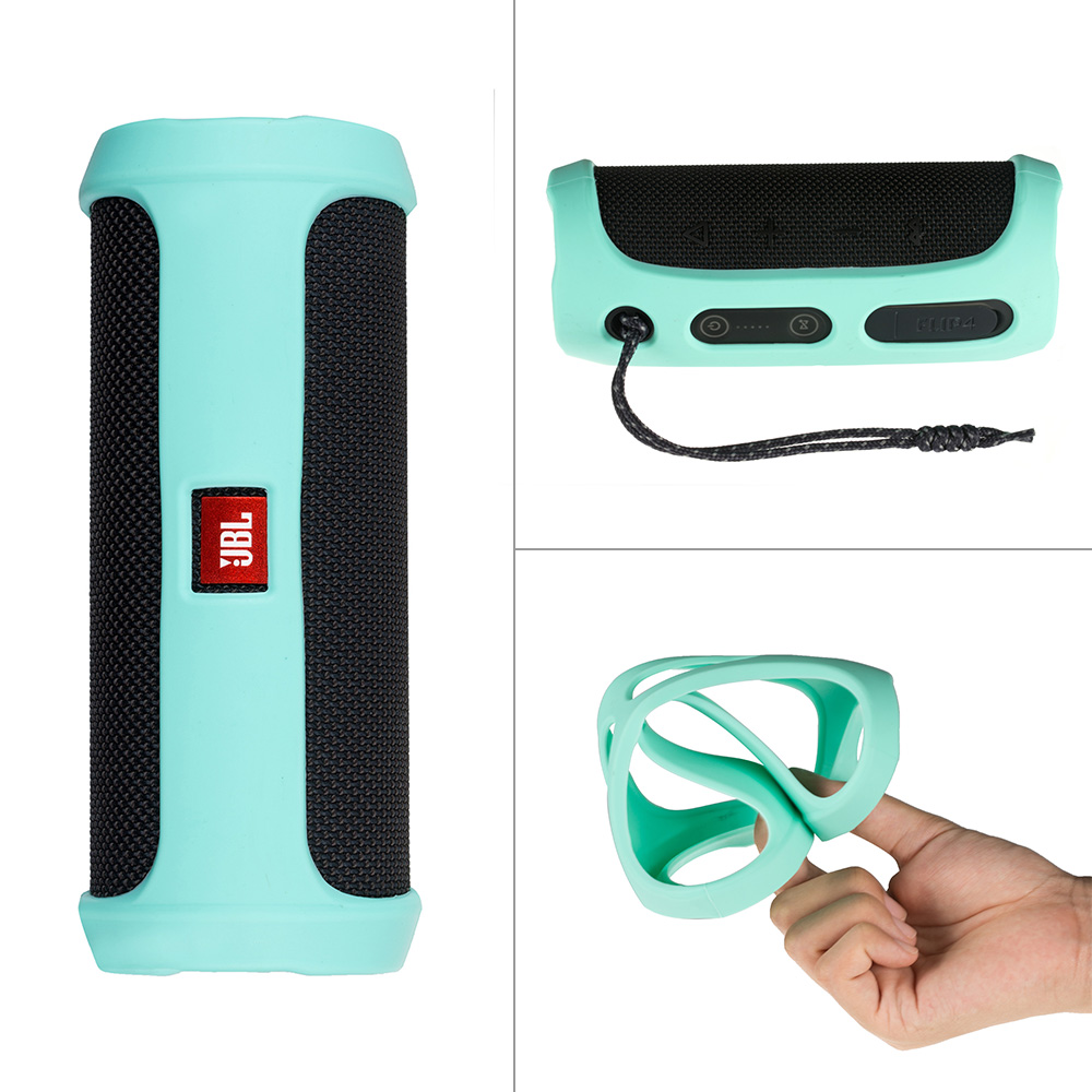 Durable Silicone Case for JBL flip 4 Wireless Speaker , Travelling Carry Sleeve Pouch Cover Bag