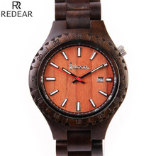 REDEAR912 all bamboo material luxury men's watch, watch of wrist of high-end brands, fashion quartz watch, archaize casual watch