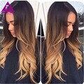 Перуанский Ombre Hair 4 Пучки 7а Перуанский объемная волна Ombre Волос связки Необработанные 1b 4 27 Ombre Волос Коричневый Ломбер объемная волна волос