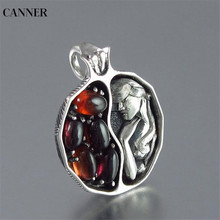 Canner Vintage Punk Jewelry For Women Garnet Crystal Choker Necklaces Silver Rose Gold Chain Queen & Pendant Gift W4