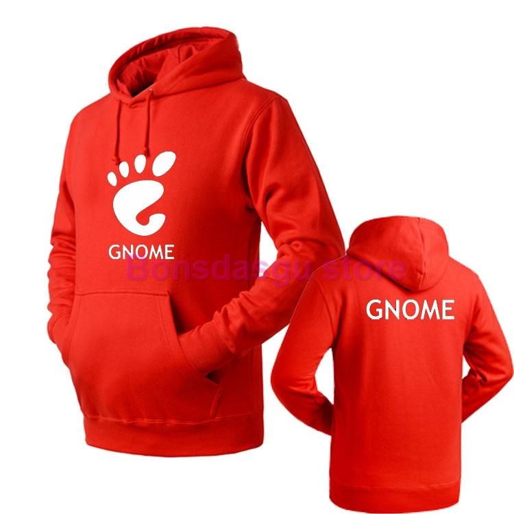 Hot New Autumn Winter Fashion linux gnome Cotton Zipper Hood Fleeces Hoodies
