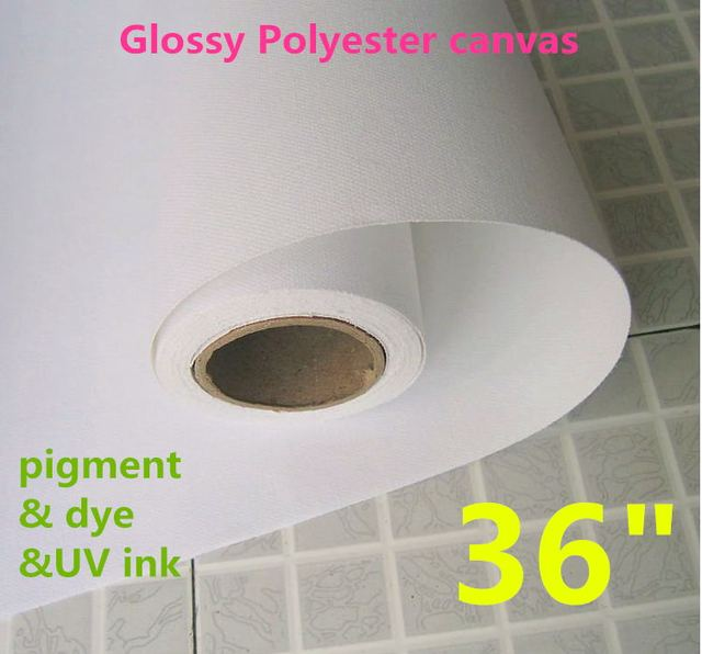 36in Polyester Waterproof Glossy Stretchable Canvas, Blank Canvas, Inkjet Printing Canvas