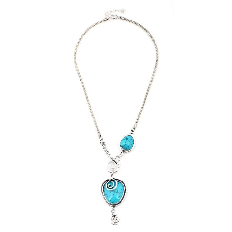 691d32aa0cf8 Bohemia animal caracoles colgante color collar de piedra declaración del  collar del encanto collares para las mujeres