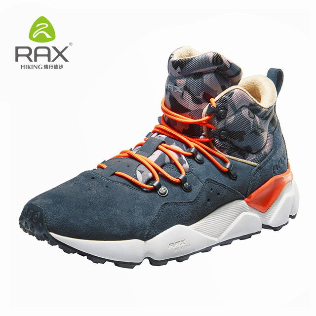 Rax 2018 Winter New Style Hiking Shoes Men Warm Snow Boots Sneakers for Men Outdoor Sports Walking Mountaining Shoes Breathable