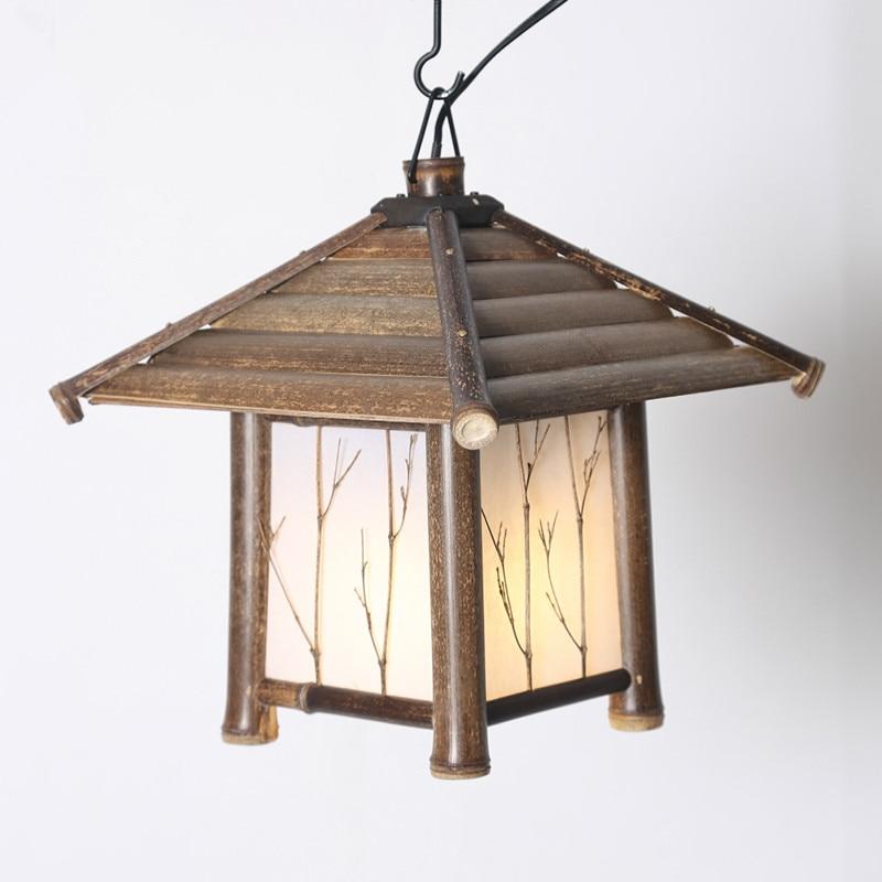 Japanski moderni privjesak od bambusa Svjetlo Washitsu Tatami Decor - Unutarnja rasvjeta - Foto 2