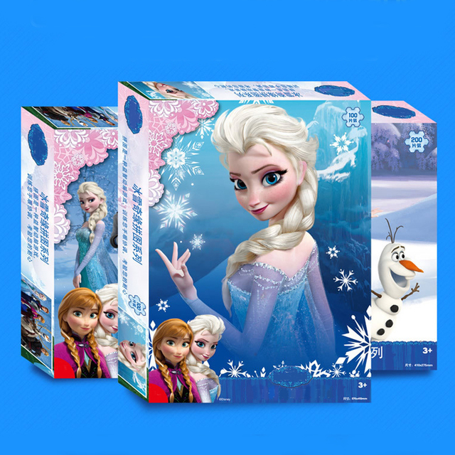Elsa Fairy Toy Princess Educational Puzzle Paper 100 200 300 1000 PCS Packed Baby Jigsaw 1000 juguetes Puzzles for children Gift
