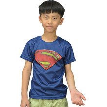 Moto 2016, the new brand children's short sleeve T-shirt Superman captain tights children round collar cultivate one's morality