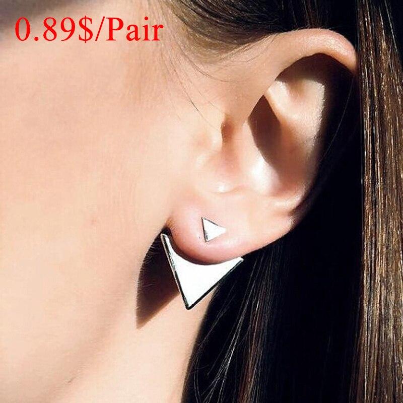 Hot Sale Classic Triangle Women Stud Ears