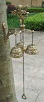 Античная литейная медь Ангел колокольчики настенные металлические двери декоративное украшение для дома двора беседка в саду домик крыльц